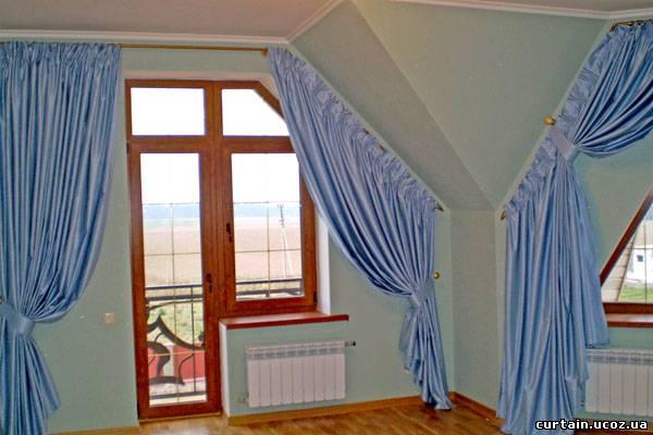 Как сшить шторы на окно со скосом228